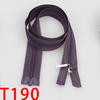 3# 65cm Custom Rubber Zipper Pull Long Chain Nylon Zipper For Pants/Dress/Pillow