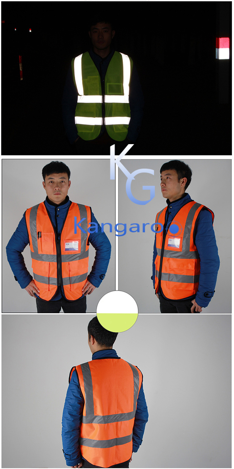 Factory Price High Visibility Yellow Color Reflective Safety Clothing Vest
