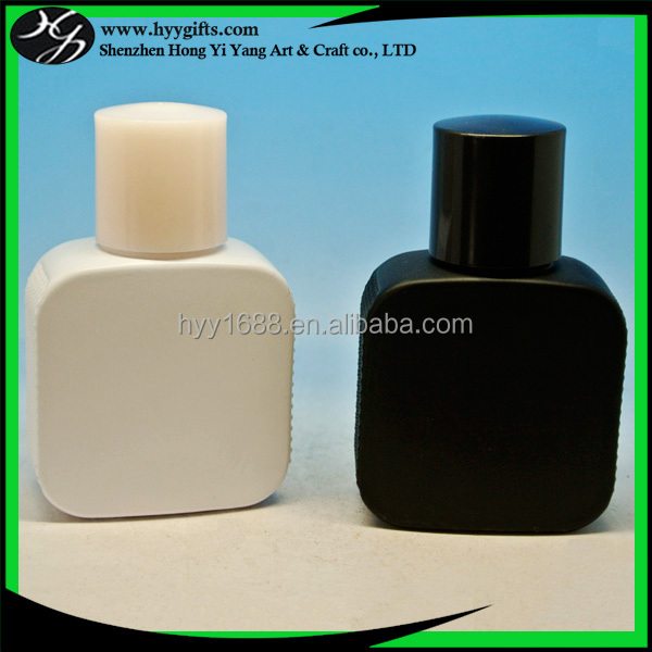 high quality solid white and black glass perfume bottles 100 ml