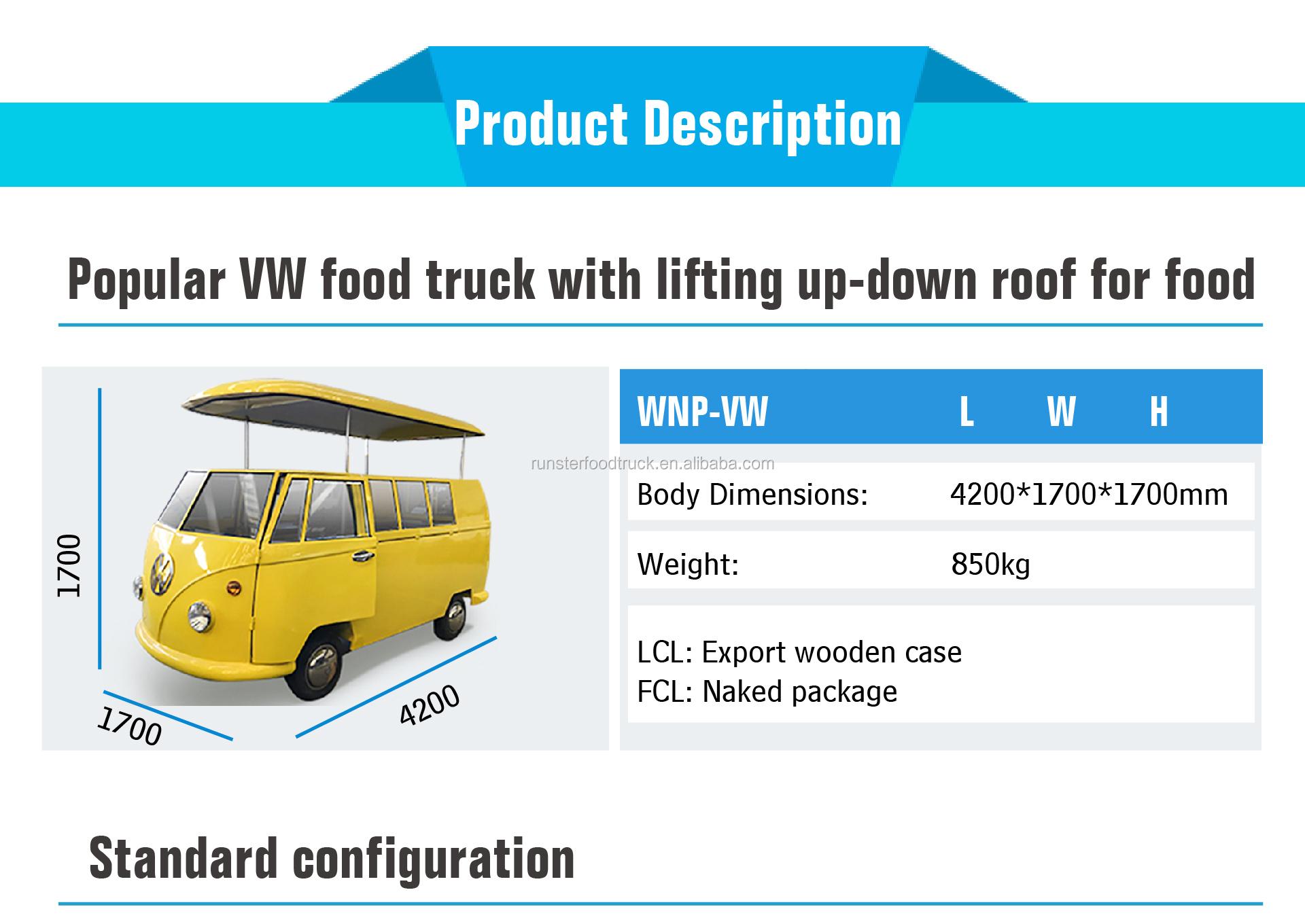 Haute Qualité alimentaire panier de nourriture de camion de bus de camion de crème glacée de café d'équipement de vélo à vendre