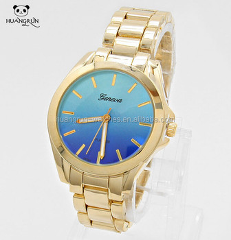 Geneva Watch Stainless Steel Back Stone Quartz Watch Japan Movt ...