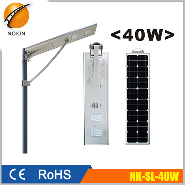 NOKIN high quality Monocrystalline silicon whole system <strong>energy</strong> 40W LED solar steet light