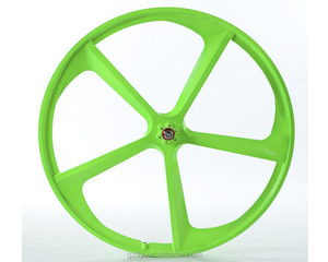 NEWEST ARRIVAL MAGNESIUM 5 SPOKE FIXIE GEAR AND SINGLE SPEED WITH FLIP FLOP HUB BIKE RIM WHEEL 700C