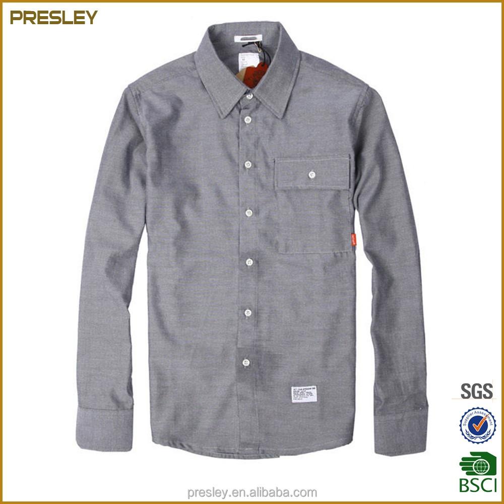 Wholesale Mens Dress Shirts Men Formal Long Sleeve Oxford Shirt From