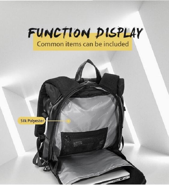 Fashion Fold Soft Travel Hiking Camping College Student Waterproof Laptop Backpack Bag