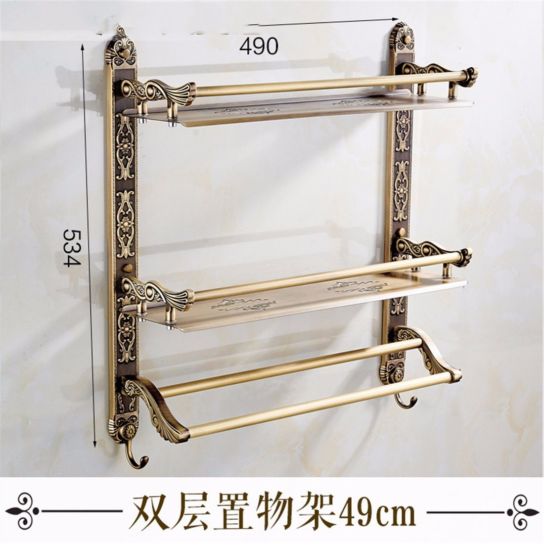 LAONA Continental antique carved Bathroom Wall in a retro active folding towel rack Towel racks, built-in shelf 2 C