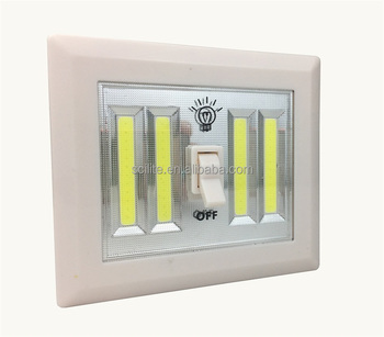 4pcs Cob Super Bright Switch Light Battery Powered Led Night Light