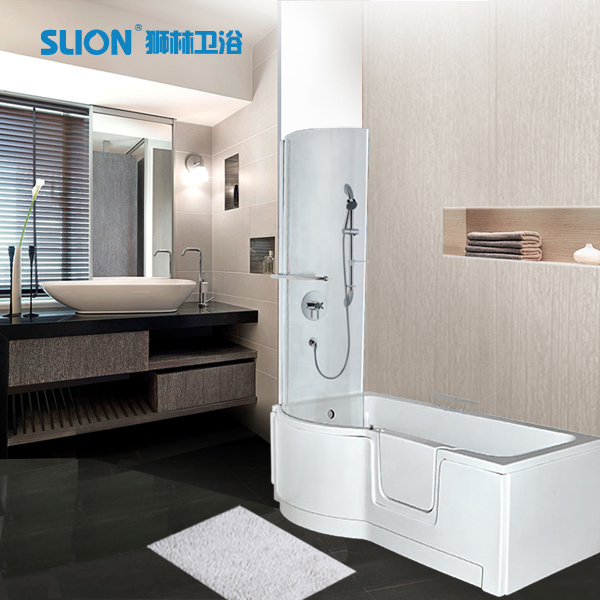 Walk in tub shower combo with seat bathtub buy walk in for 6 tub shower combo