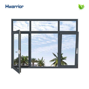 Newly invention and special design thermal insulated aluminum frame glass window HCW50