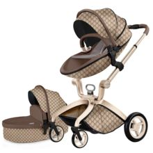 Neue PU leder Luxus <span class=keywords><strong>Baby</strong></span> Kinderwagen High Land-Scape <span class=keywords><strong>Baby</strong></span> Kinderwagen 3 in 1 Hotmom Wagen