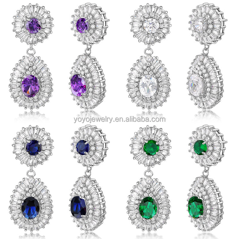 Wedding Gold Jewelry Indian Long Hanging Tanishq Diamond Earrings ...