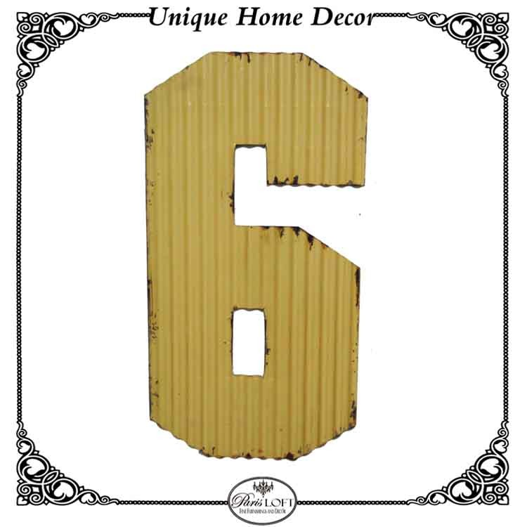Decorative House Room Colorful Metal Letters And Number