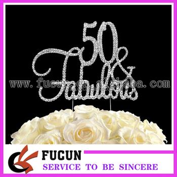 50 Fabulous Silver Birthday Party Decor Rhinestone Crystal Cake
