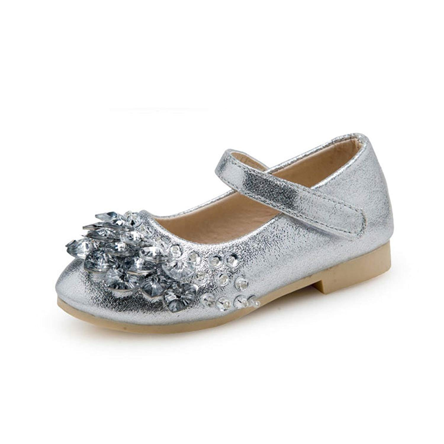 O&N Kids Ballet Flats Beaded Girls School Shoes Mary Jane Wedding Party Princess Dress Shoes