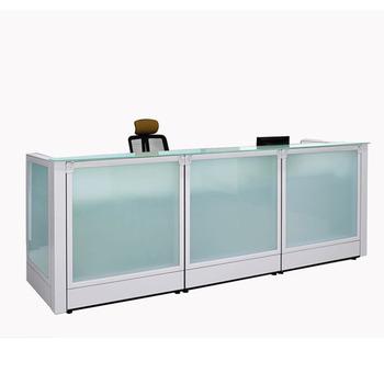 Moda Oficina Panel De Cristal Mesa De Recepción Para Recibir Invitados -  Buy Oficina De Mesa De Recepción,Vidrio Oficina Mesa De Recepción,Vidrio ...