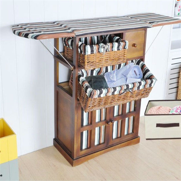 Folding Ironing Board Chest Solid Wood Furniture Storage Cabinet Of Drawers Iron With Cabinets