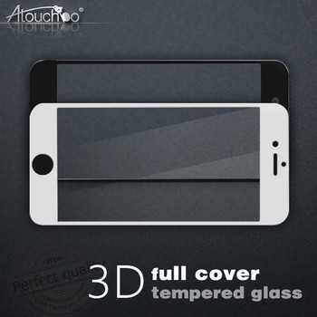 High clear 0.33mm 9h cell phone 3D the best touch glass screen protector for iphone 7