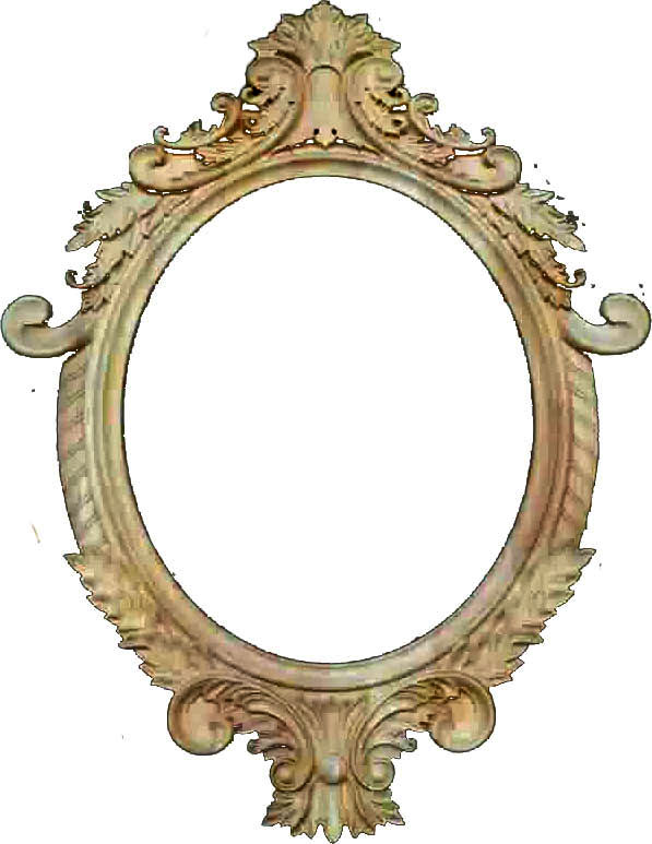 antique wooden hand frame