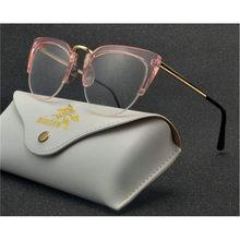 Очки для чтения кошек для женщин и мужчин, пресбиопические очки с бесцветными линзами, унисекс, овальные металлические оптические очки для ...(Китай)