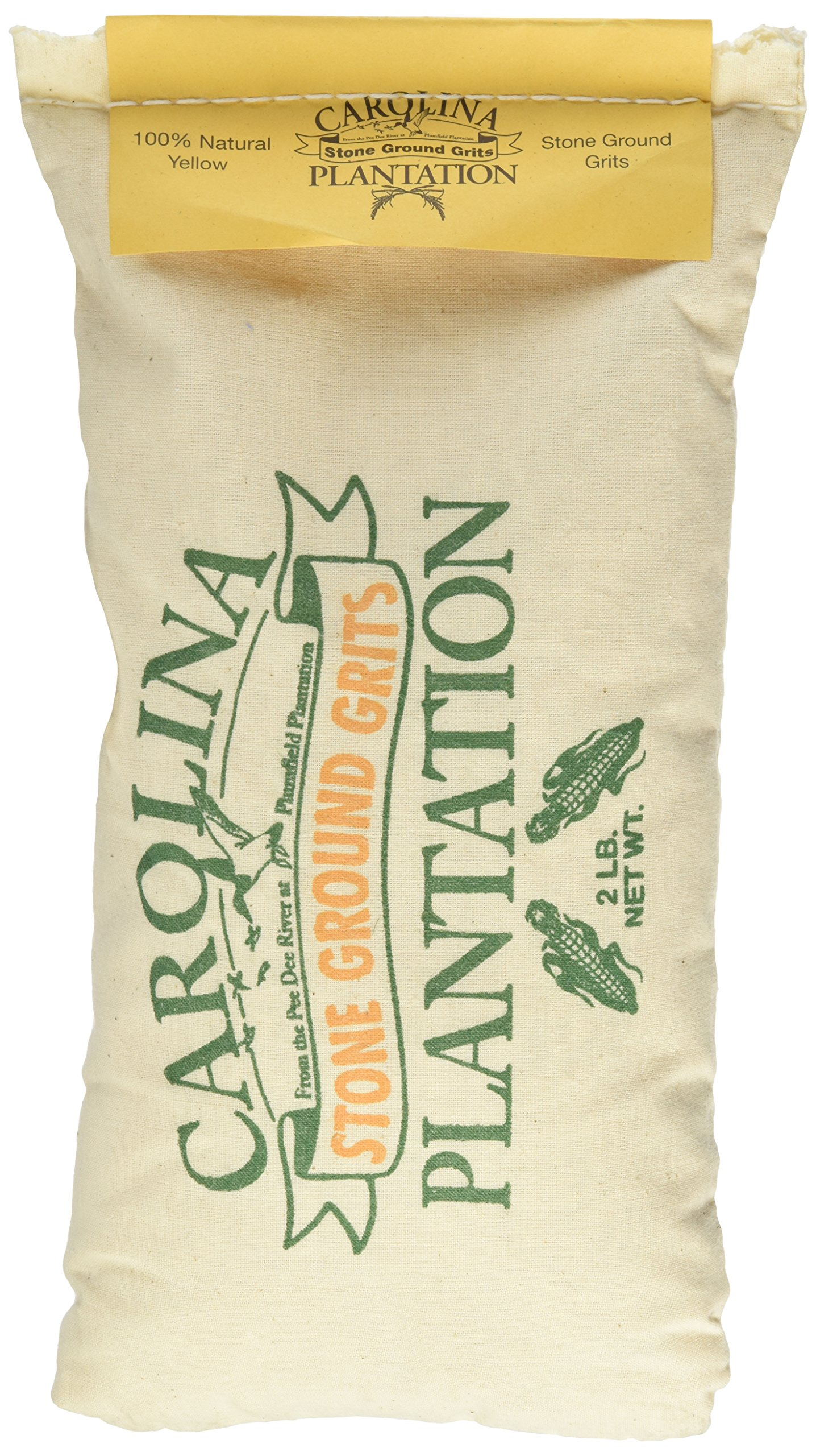 Carolina Plantation Stone Ground Yellow Grits - 2 Lb Bag