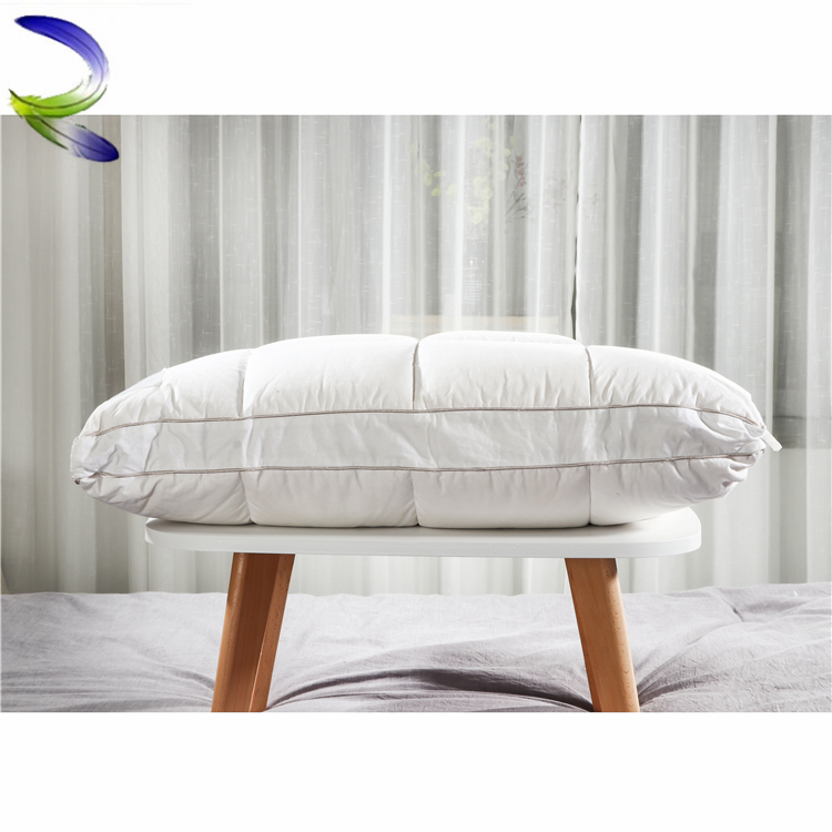 Best price custom customized hotel 100% cotton down feather pillow