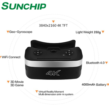 2018 NEW ITEMS ! Sunchip supply high quality vr headset all in one rk3399 4K display vr 3d glasses of SUNCHIP