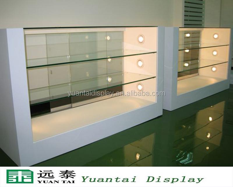 Fashion Custom Made Wood Glass Mobile Phone Shop Display