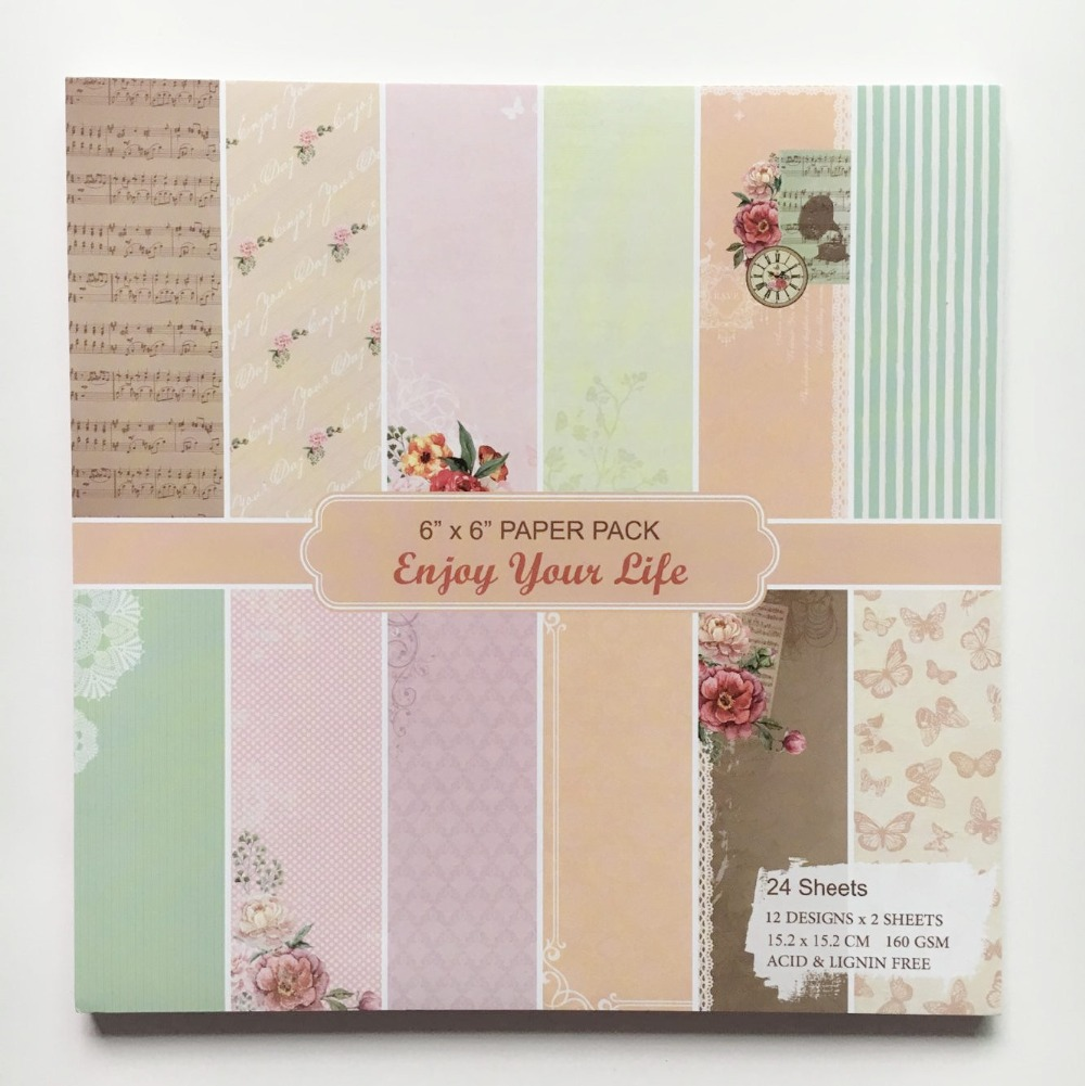 online get cheap web background paper com alibaba group new style 6 background paper pads colorful music flowers patterns 24sheets diy