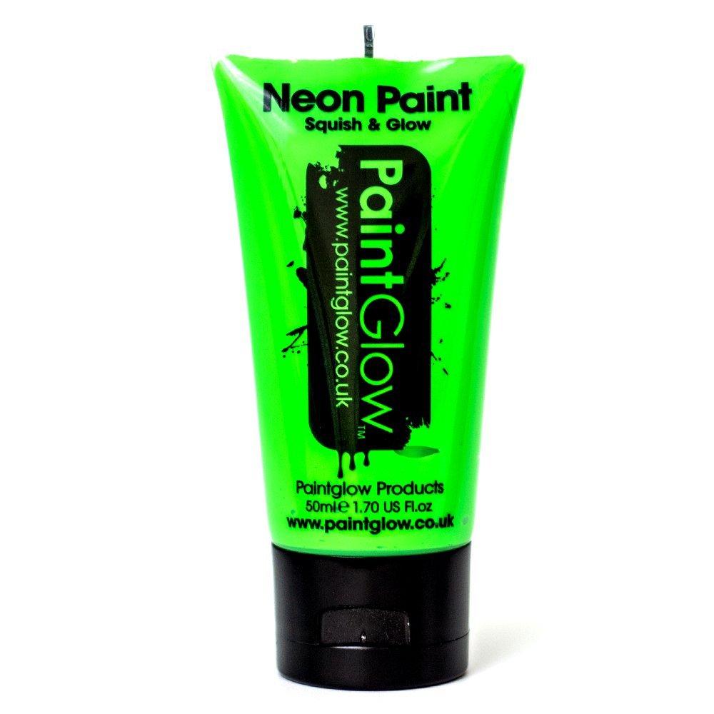 Large Paint Glow Neon UV Green Face & Body Paint Fluorescent Rave Festival 50ml