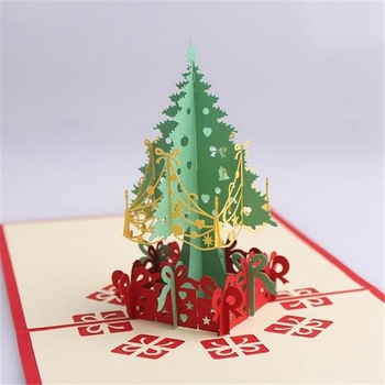 Handmade Christmas Tree Card 3d Stereo Greeting Cards Special