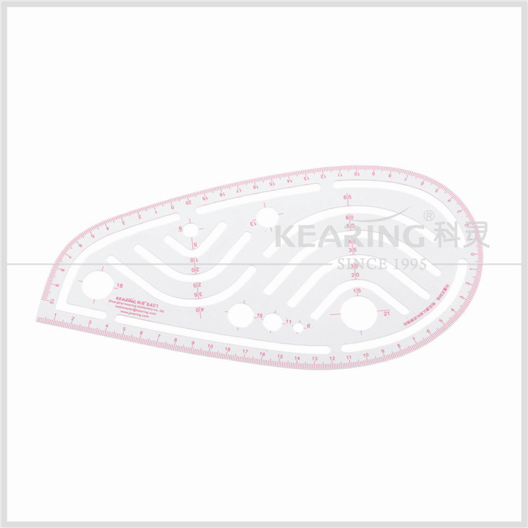 China Kearing transplant flexible water drop shape french curve ruler for tailor design