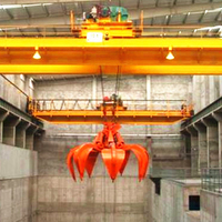 QZ type 10 ton 20 ton capacity electric double girder grab bridge crane for waste processing