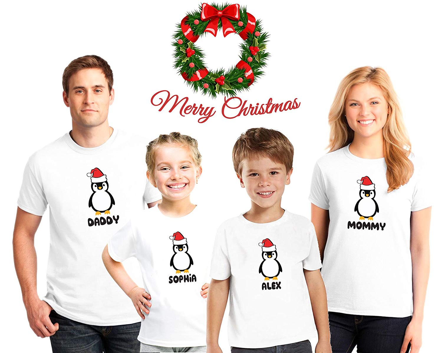 aacf346a2 Get Quotations · Penguins South Pole Family Christmas Pajama Matching Shirts ,Family Christmas pajama tees, Kids penguin