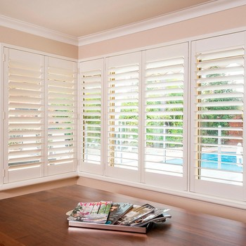 PVC window shutters for blinds