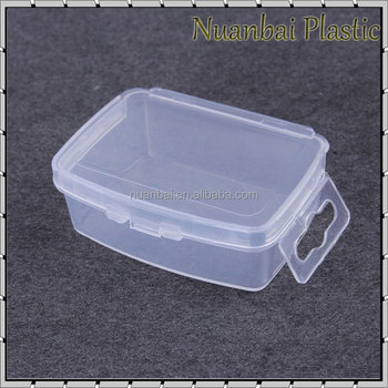 Transparent Pp Material Plastic Diy Nail Art Storage Box Small