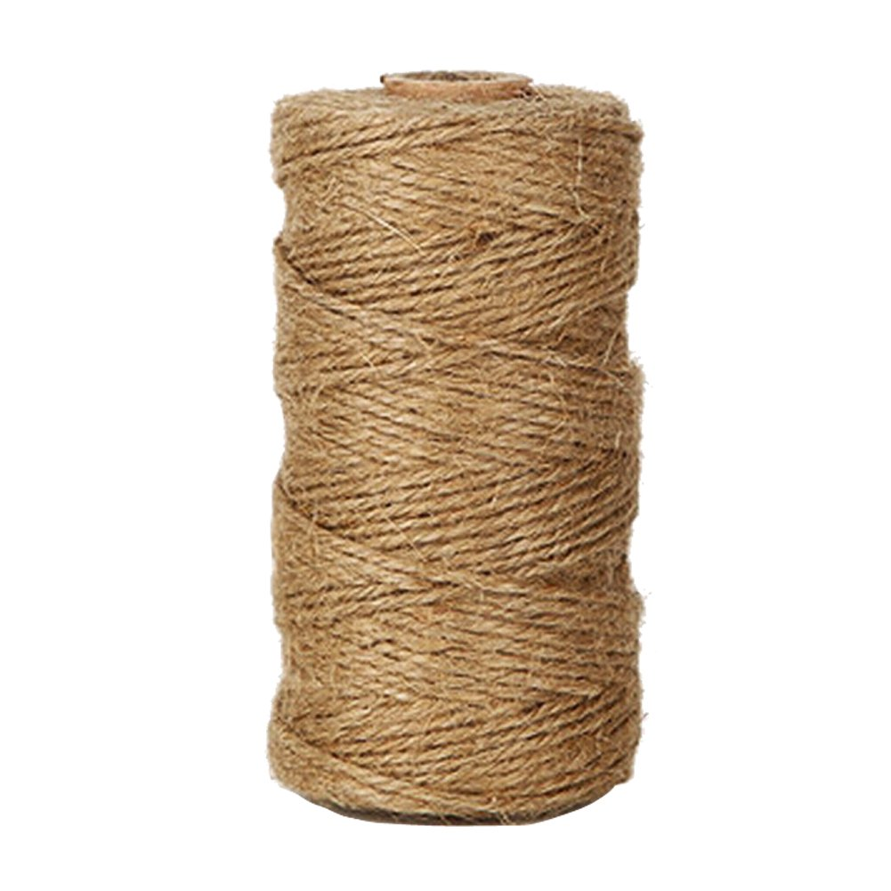 KINGLAKE 328 Feet Natural Jute Twine Best Arts Crafts Gift Twine Christmas Twine Durable Packing String for Gardening Applications