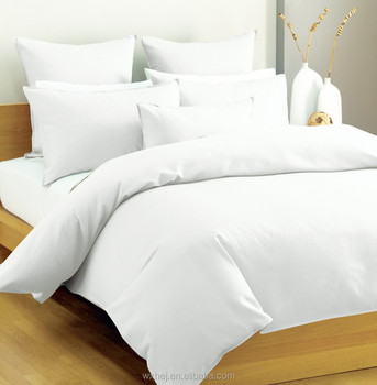 100% Cotton New Design Hotel White Bed Sheet Cotton Fabric