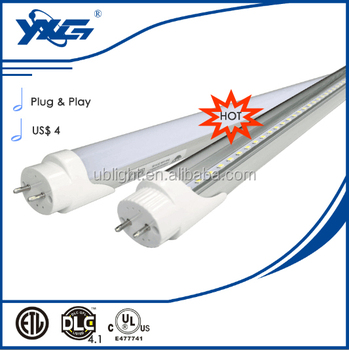 Plug and play UL DLC listed 18w new products 2016 smd2835 tube8 led xxx animal video tubeled tube8.japanese girl