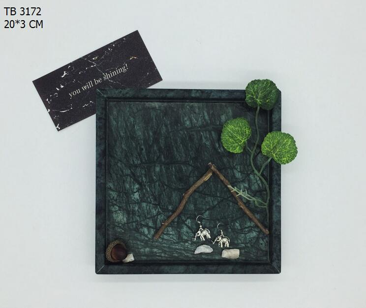 Natural marble tray shooting props modern luxury hotel decoration jewelry display tray