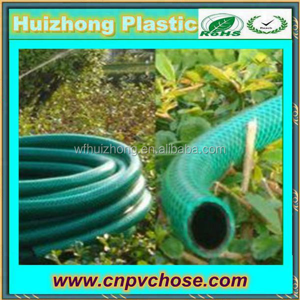 Reinforced PVC Garden Water Hose Pipe Reel Outdoor Hosepipe Green 10-30M