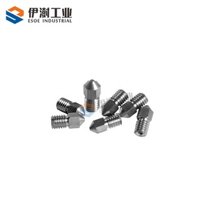 Standard size cemented carbide 3D printer nozzle high hardness tungsten carbide nozzle with easy operation