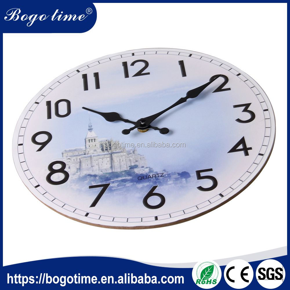 Alibaba china supplier great quality OEM quartz wooden antique old style mdf clock wall