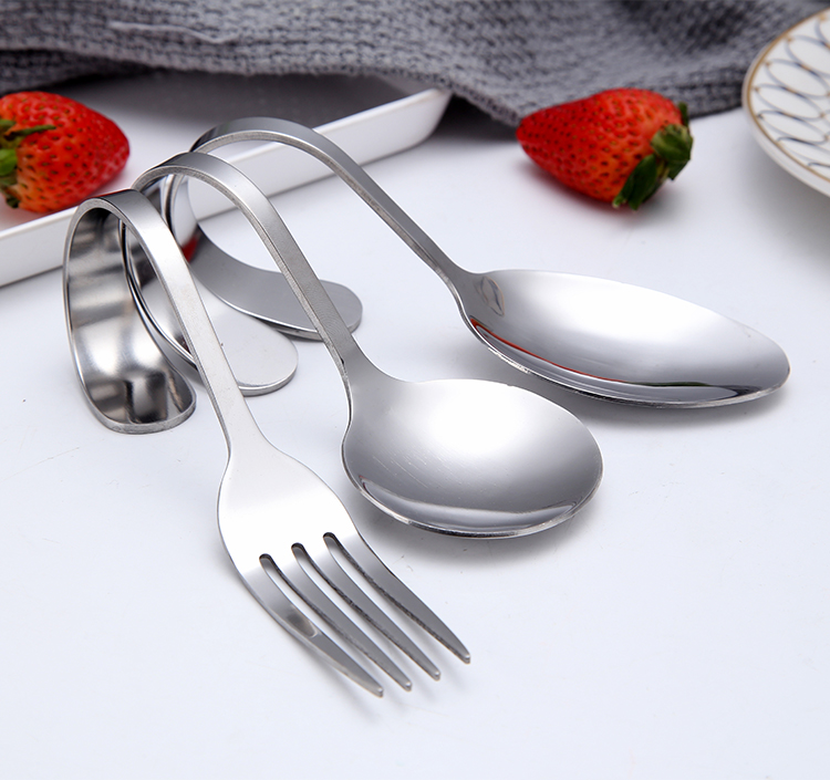 Stainless steel Appetizer Bent Handle Coffee Spoon