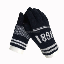 2015 knitting 2 colors jacquar d soft touch screen gloves.