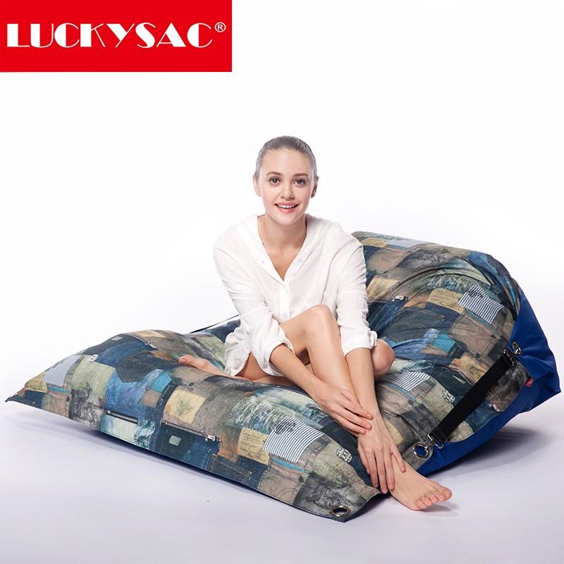 Luckysac Foam Bean Bag Bed Big Pillow Sac Seat Cushion