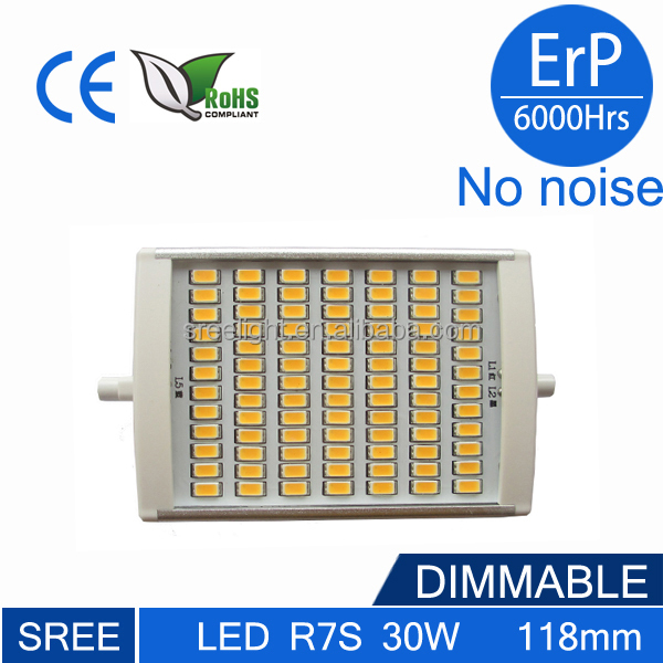 300w halogeen r7s leidde dimbare led replacement 118mm 60w for Lampada led r7s 2000 lumen