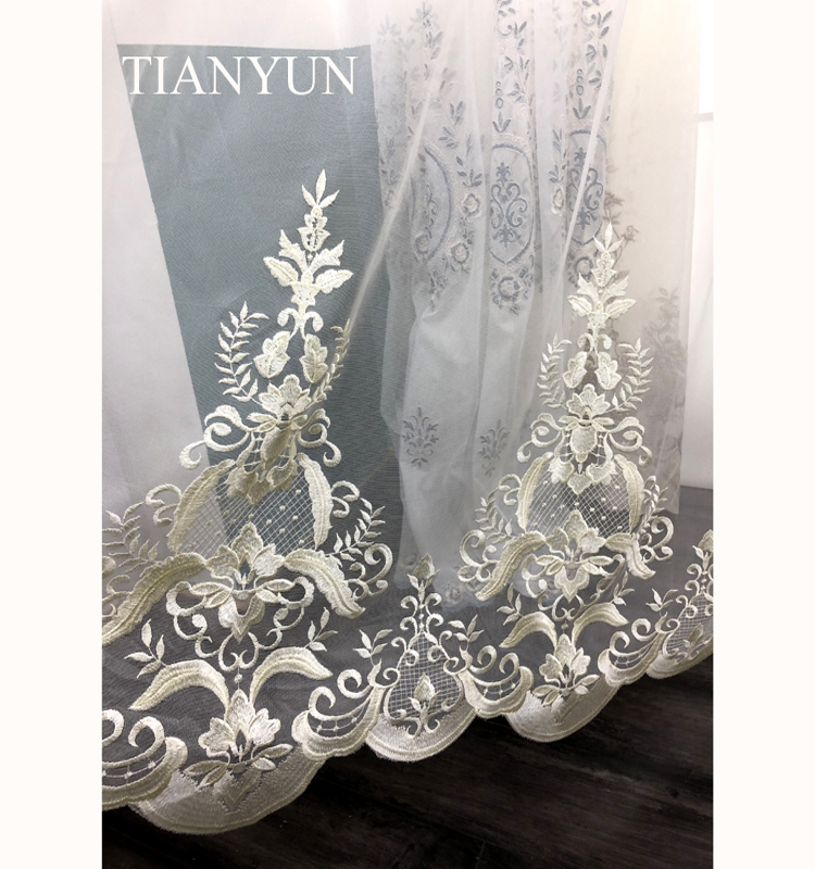 Polyester Sheer Window Voile Rod Pocket Panel Curtain