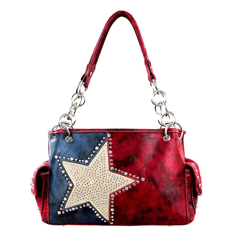 e3176377a5a2 Get Quotations · Montana West Concealed Carry Purses Western Texas Pride  Patriotic Lonestar Handbags TX15g-8085