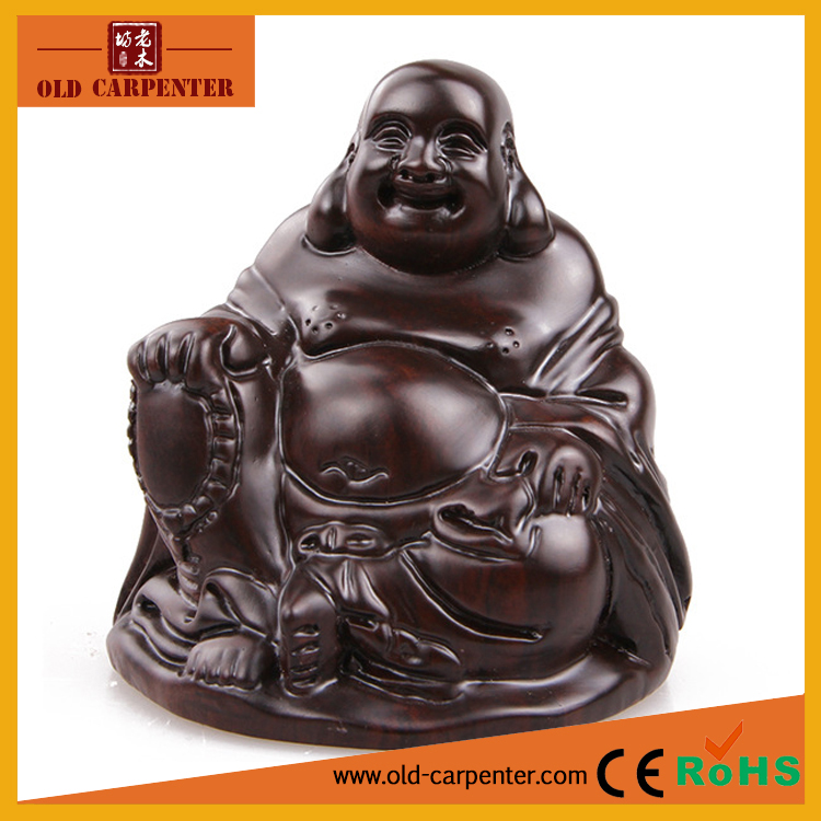 Monzo Laughing Buddha statue crafts money drawing ornaments,creative gifts homemade decoration wooden