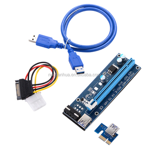 Stock Available PCI-E x1 x16 Riser pci 1x to 16x Riser Card Express to USB 3.0 Cable Converter Extender Adapter BTC ETH 4 Pin